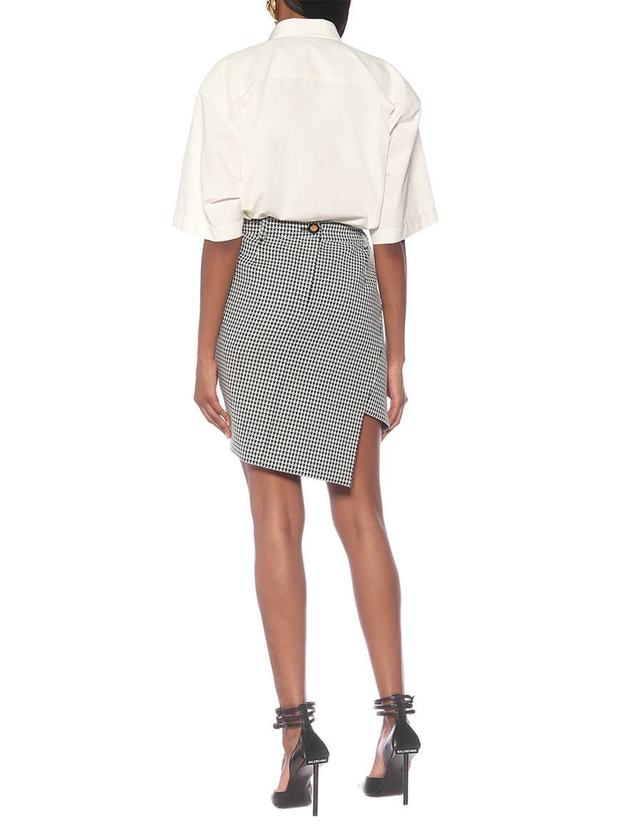 BALENCIAGA Twisted wool blend miniskirt