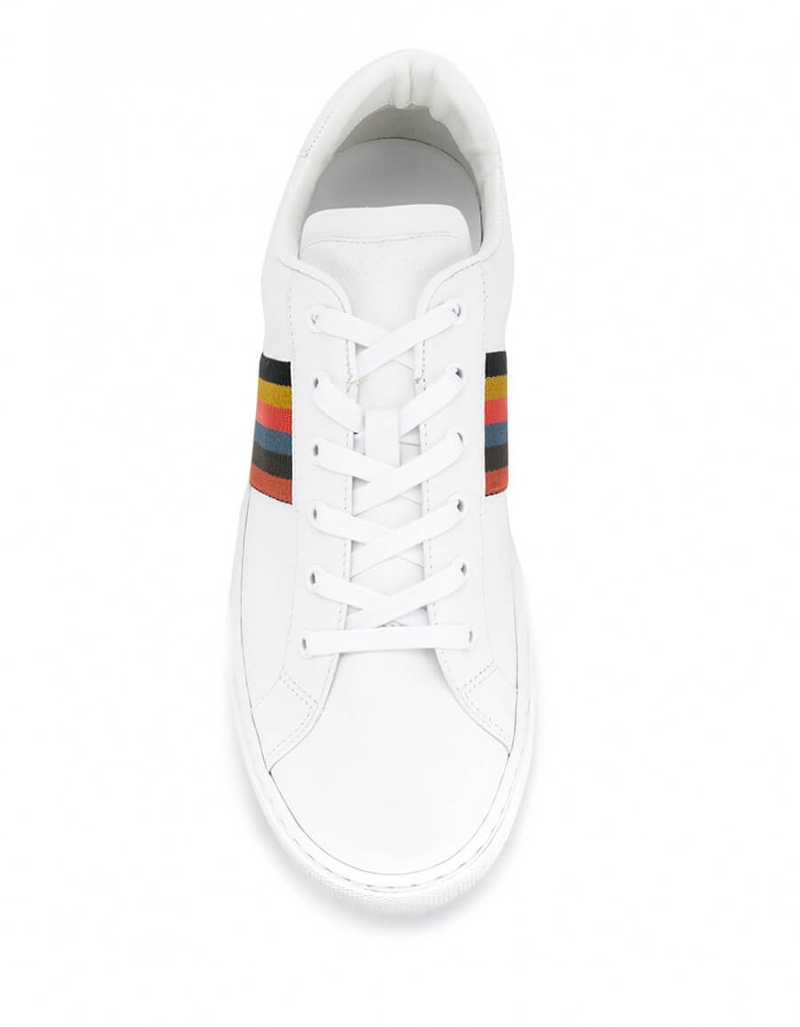 PAUL SMITH LOGO LEATHER SNEAKER