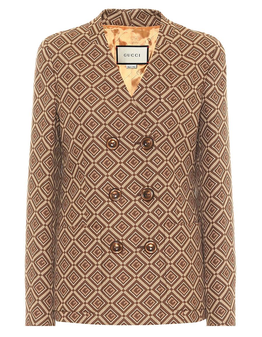 GUCCI GG cotton blend jacquard blazer