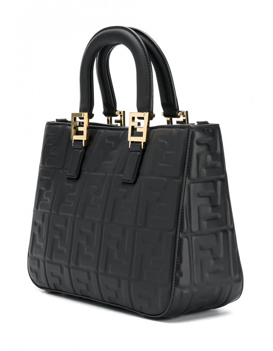 FENDI FF SMALL LEATHER TOTE BAG
