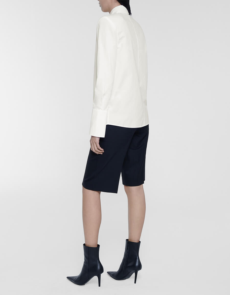 OFF WHITE Popeline embroidered cotton shirt