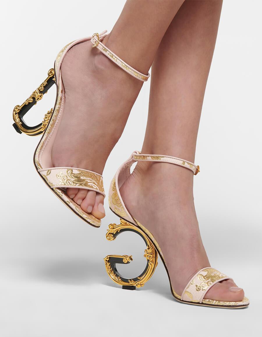 DOLCE & GABBANA Keira 105 brocade sandals