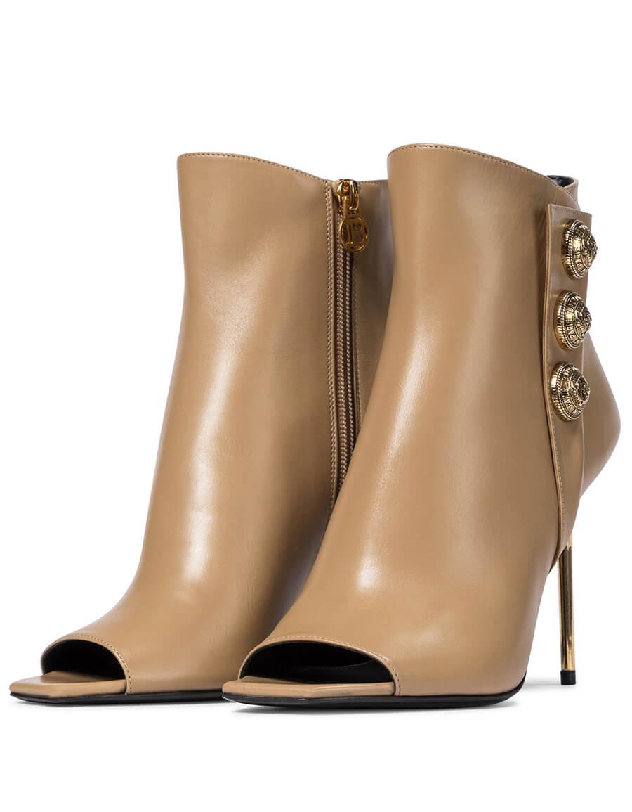 BALMAIN Sara leather ankle boots