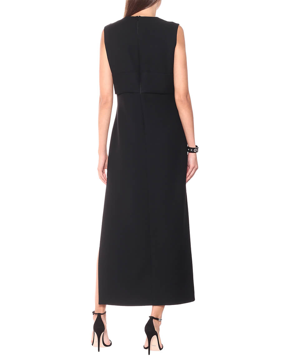 GUCCI Embellished silk and wool cady gown