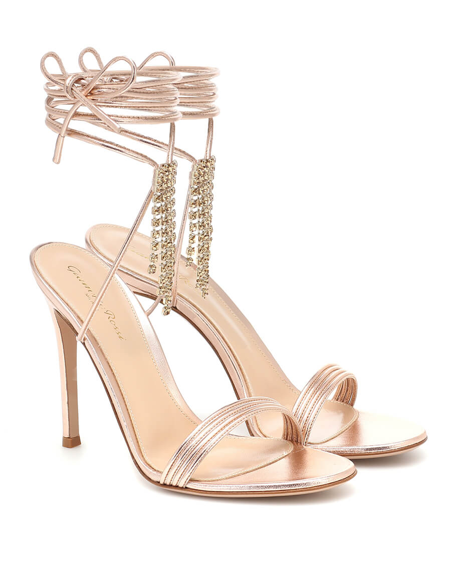 GIANVITO ROSSI Embellished leather sandals