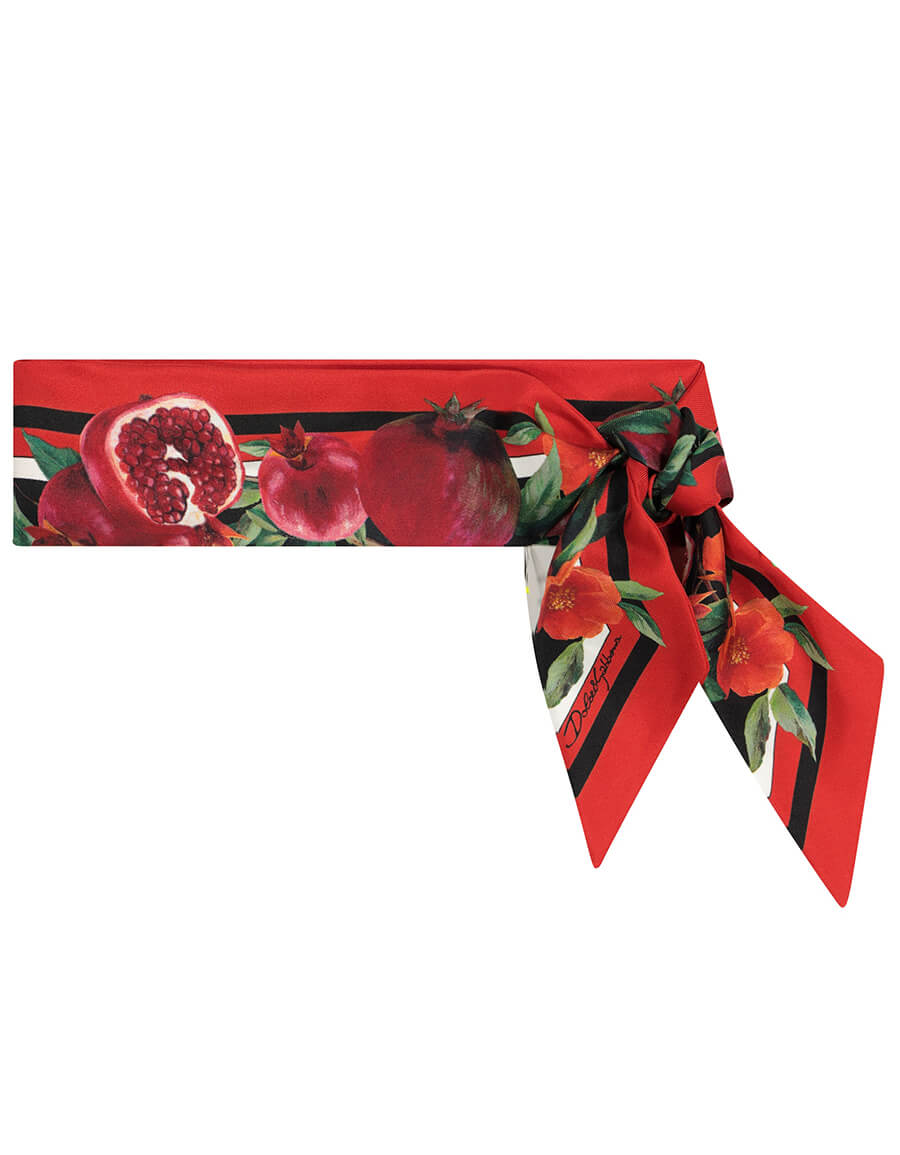 DOLCE & GABBANA Exclusive to Mytheresa Pomegranate print silk scarf