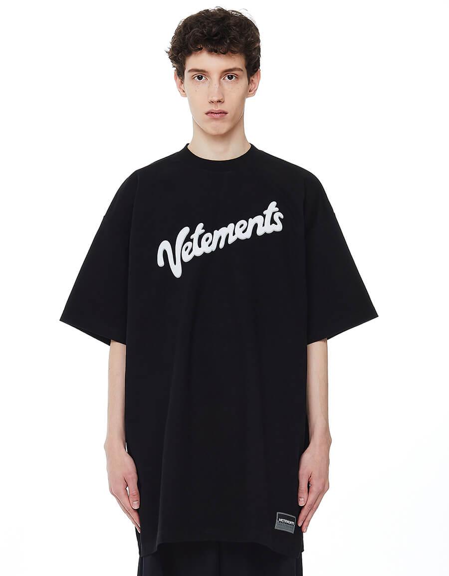VETEMENTS Oversize Black Logo T shirt