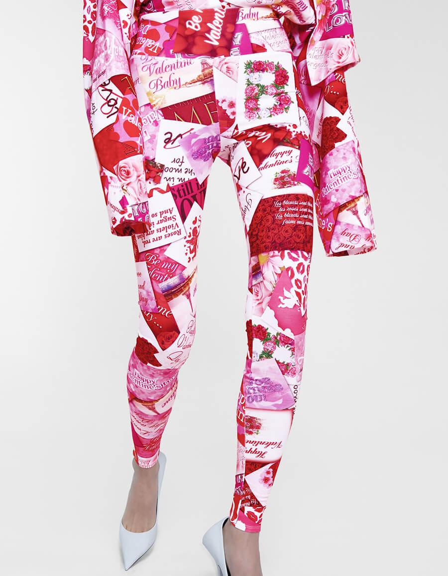 BALENCIAGA Printed stretch cotton leggings