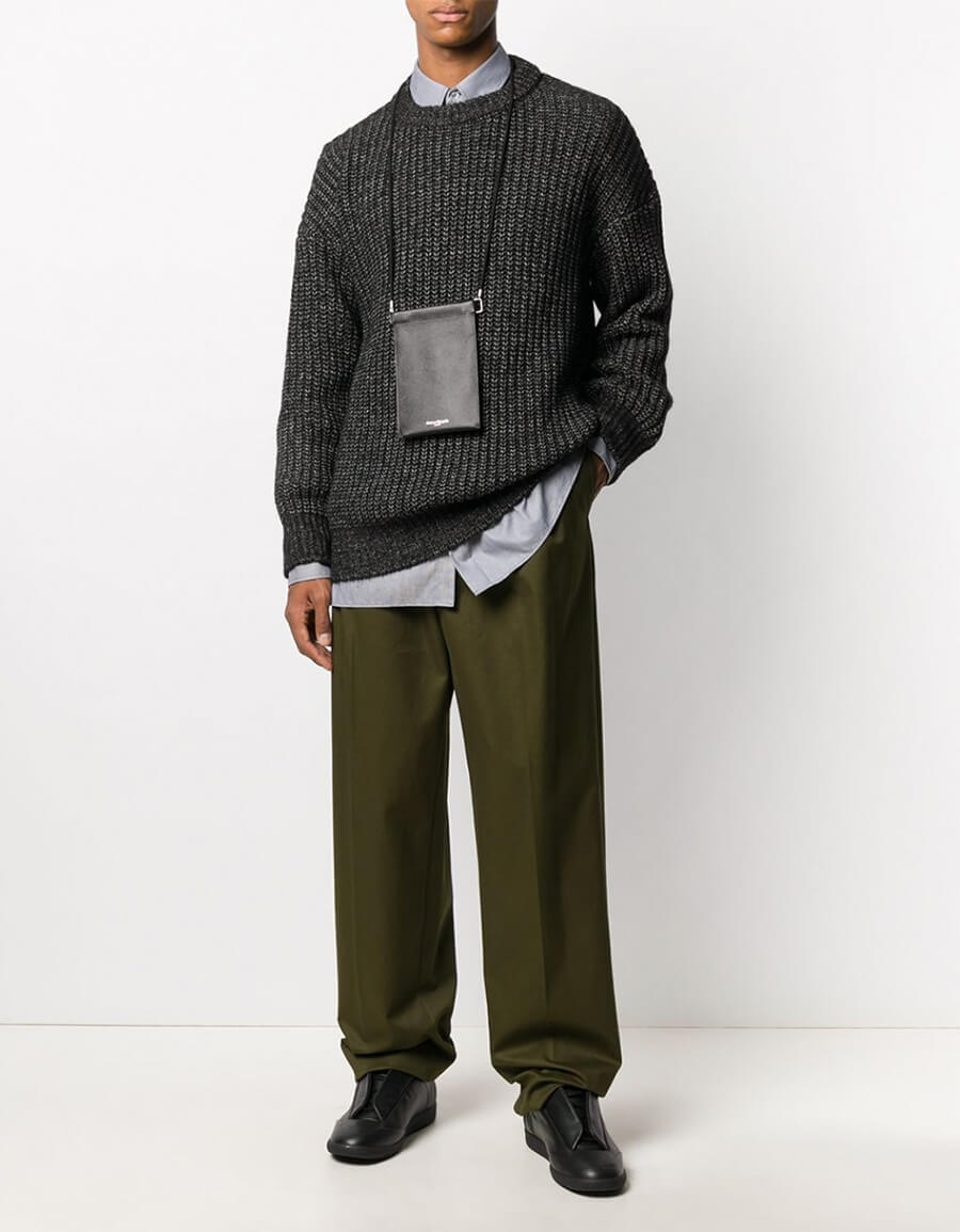 LOEWE PLEATED CHINO TROUSERS