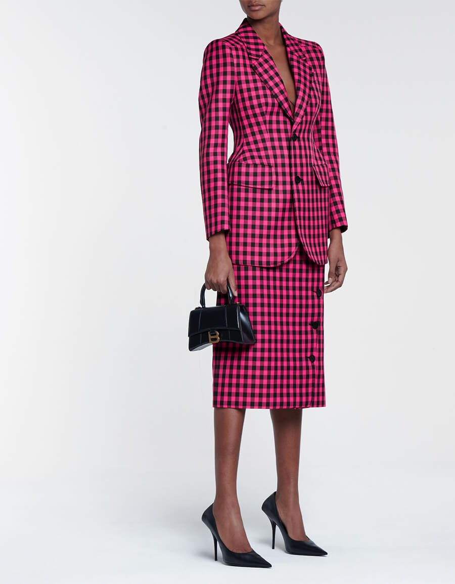 BALENCIAGA Checked pencil skirt