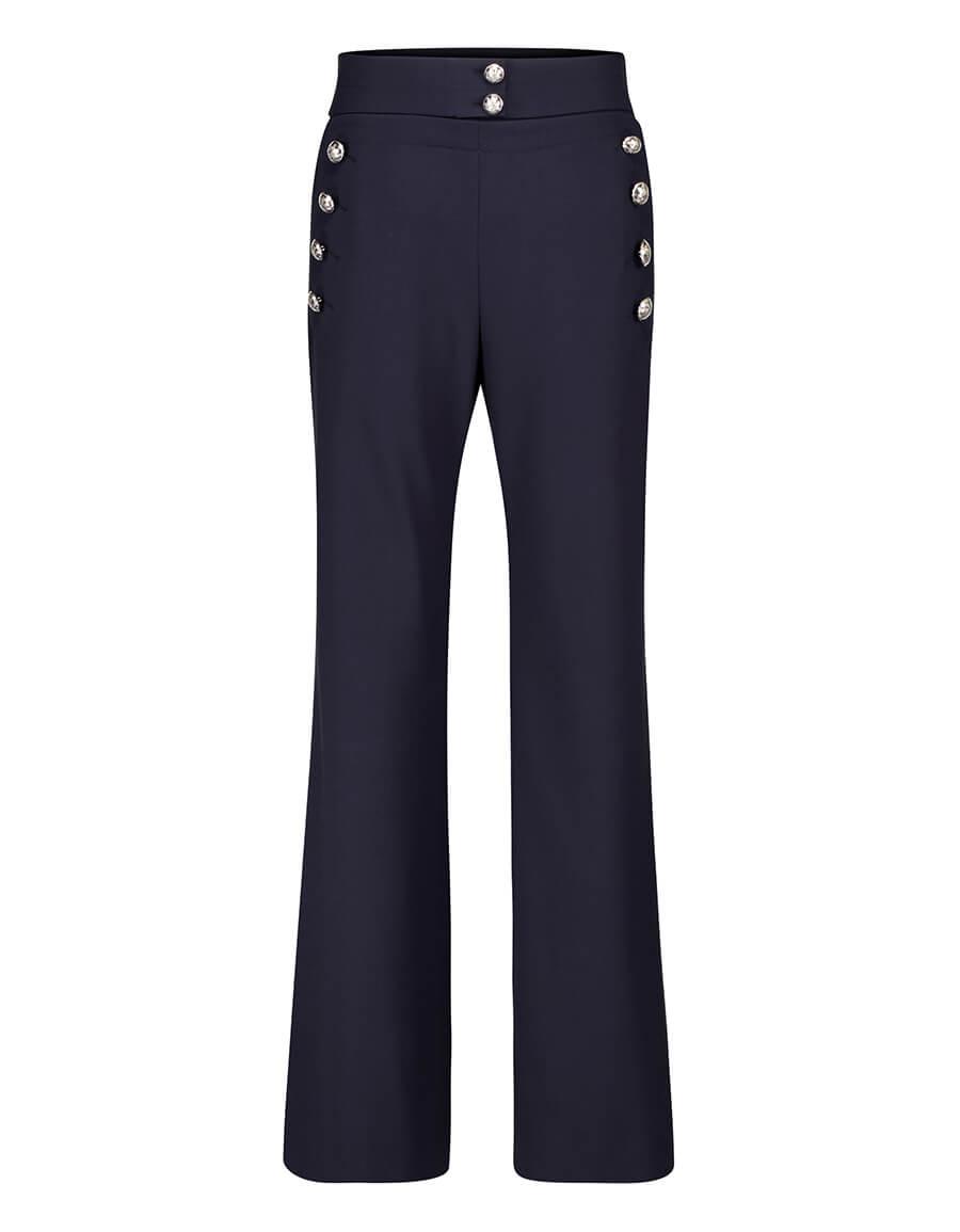 CHLOÉ High rise flared wool blend pants