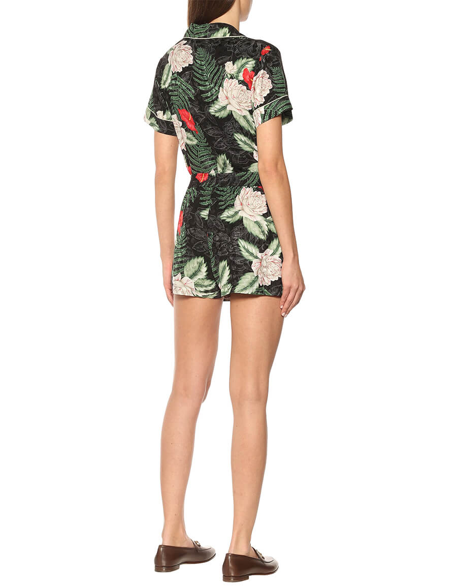 GUCCI Hawaiian print silk jacquard shorts