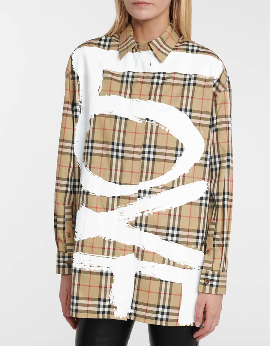 BURBERRY Archive Check stretch cotton shirt