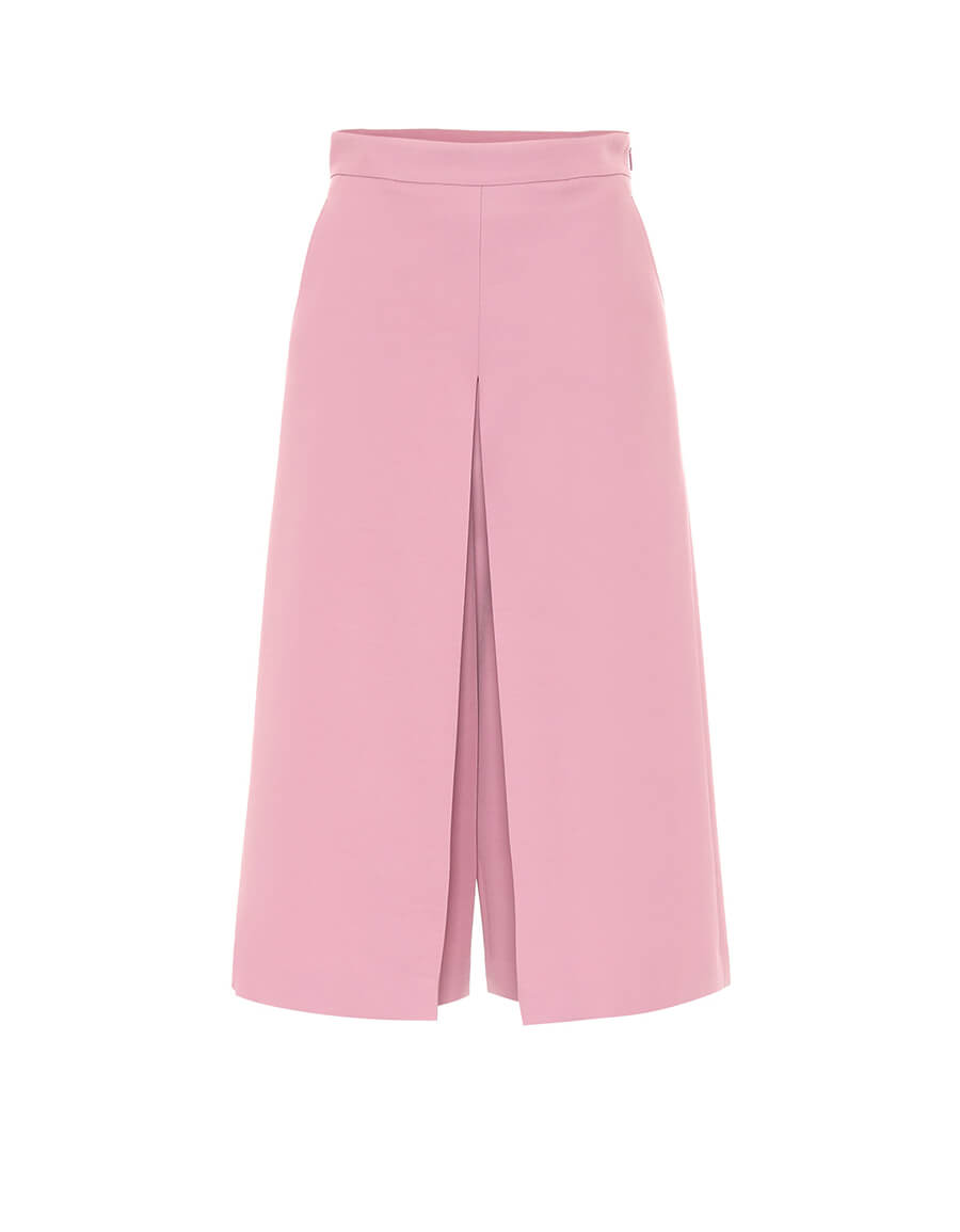 GUCCI High rise wide silk blend pants