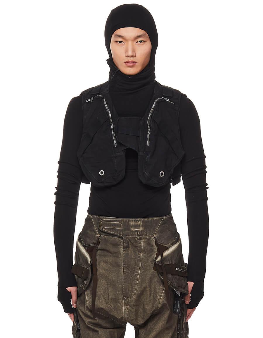 HAMCUS Black Cropped Vest