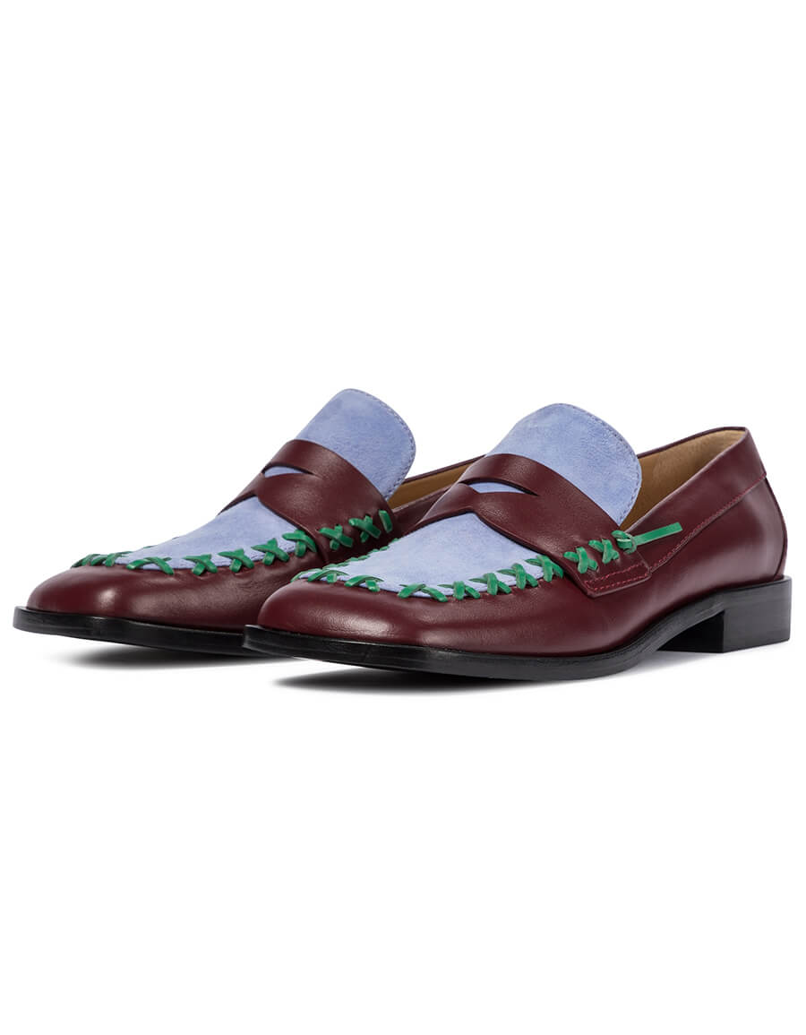 JW ANDERSON Stitch leather loafers