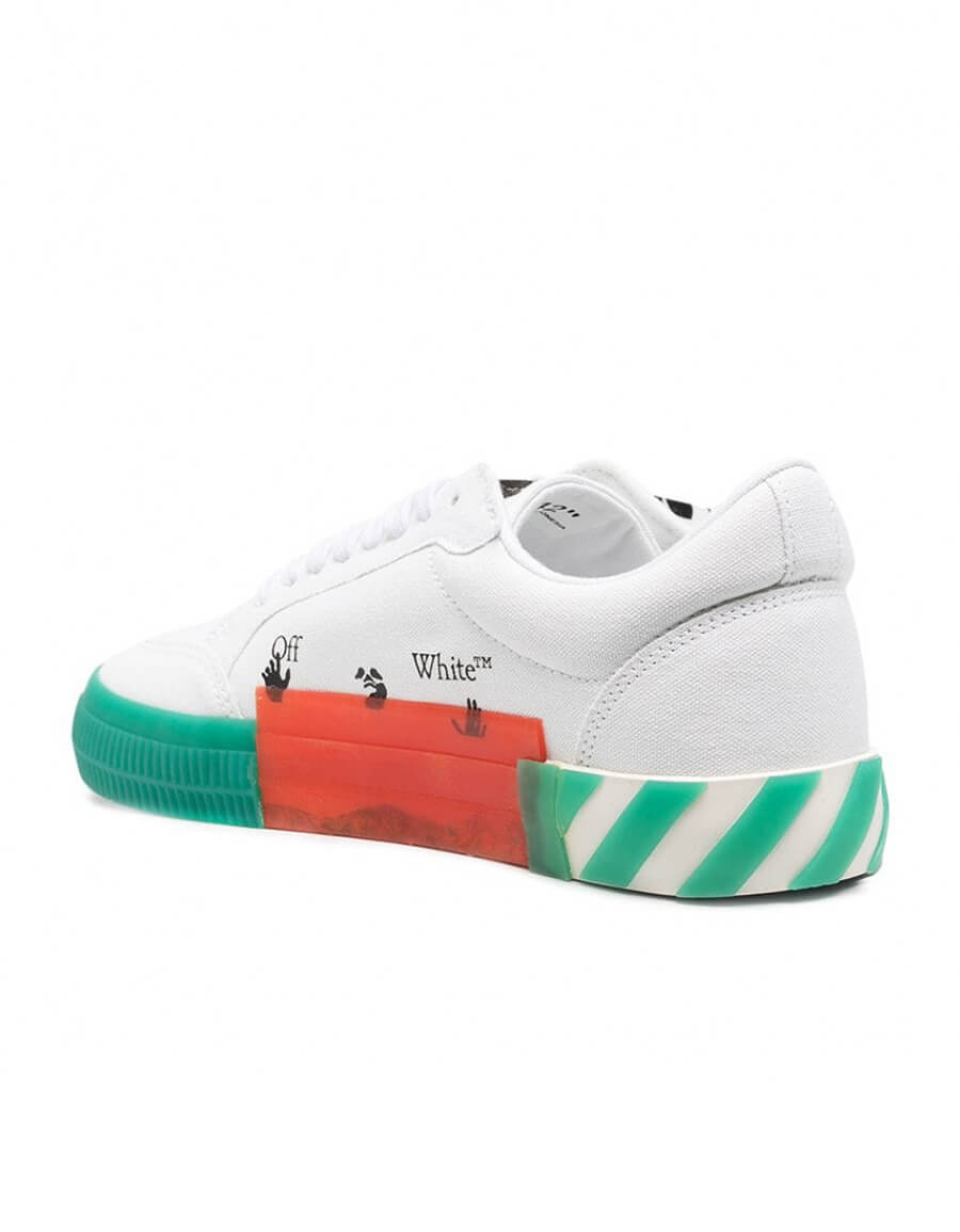 OFF WHITE VULCANIZED LOW SNEAKERS