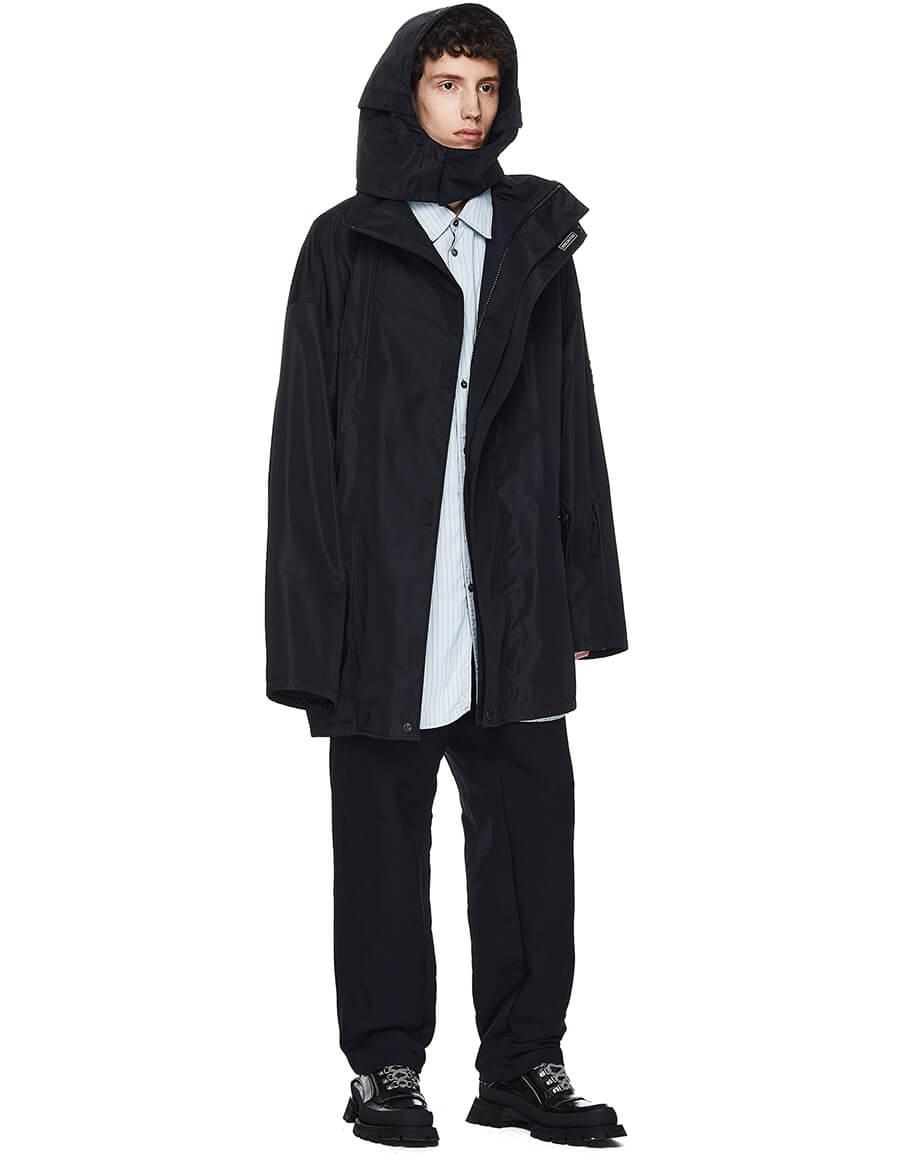 BALENCIAGA Black Jacket With BLNCG News 24/7