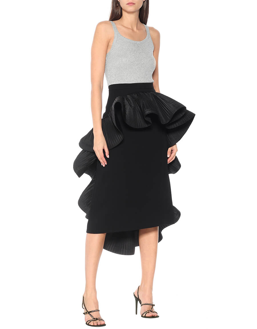 GUCCI Ruffled cady midi skirt