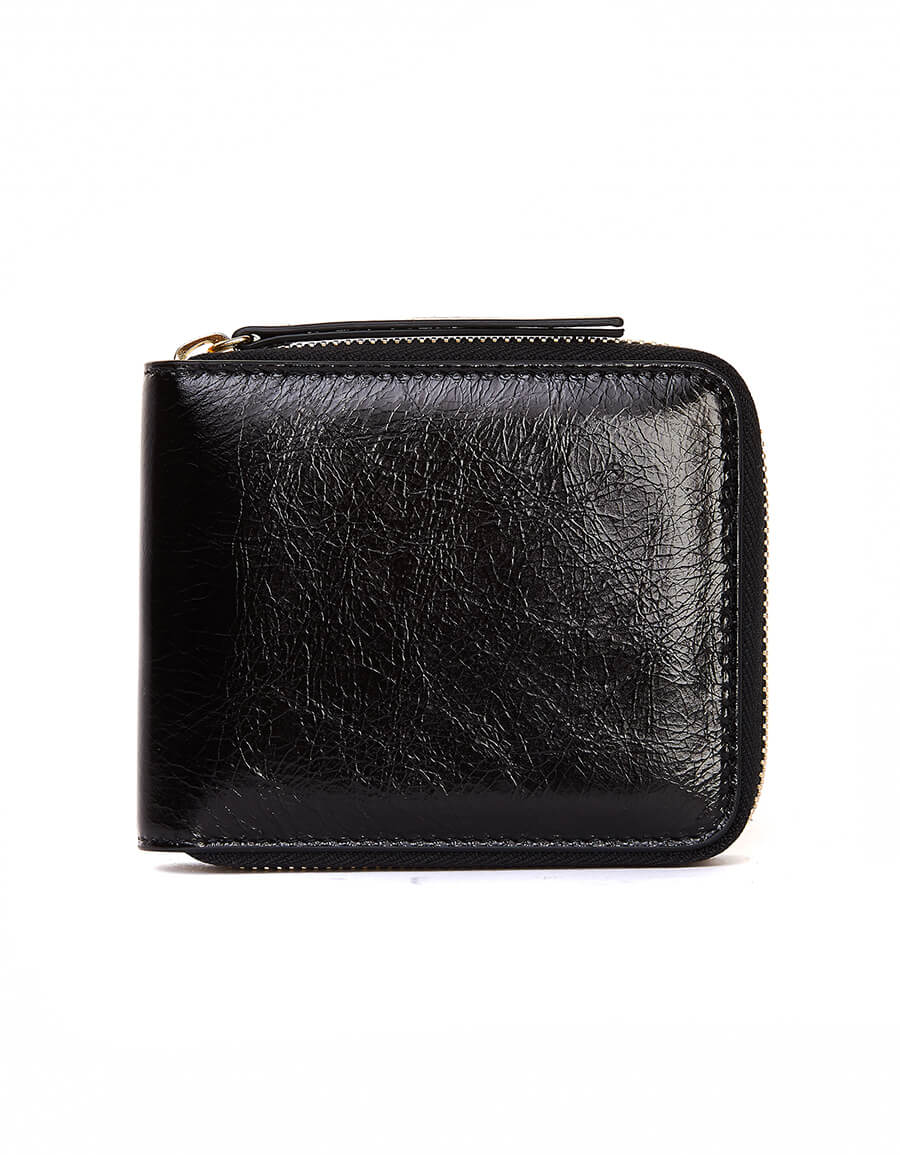 MAISON MARGIELA Black Textured Leather Wallet