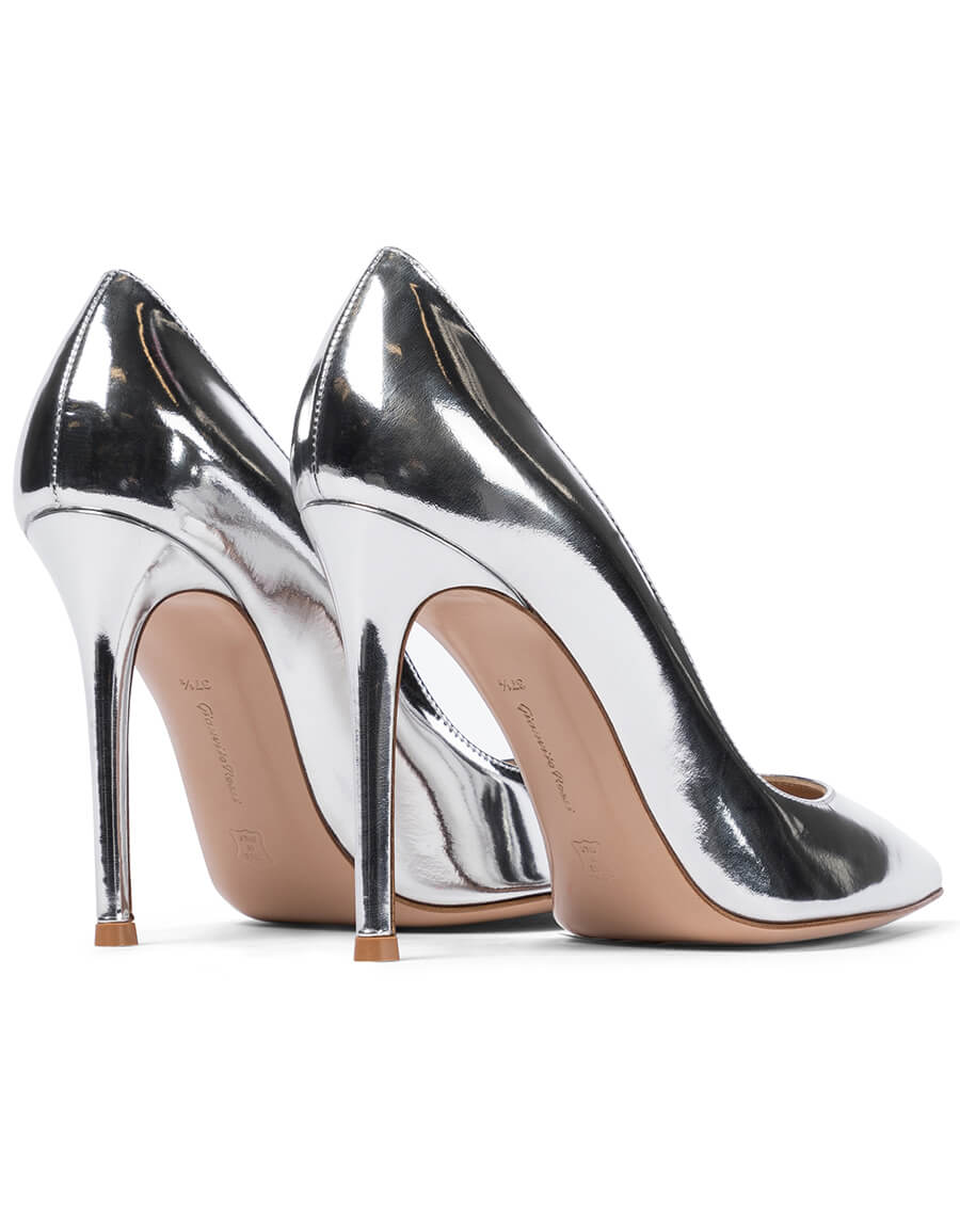 GIANVITO ROSSI Gianvito 105 metallic leather pumps