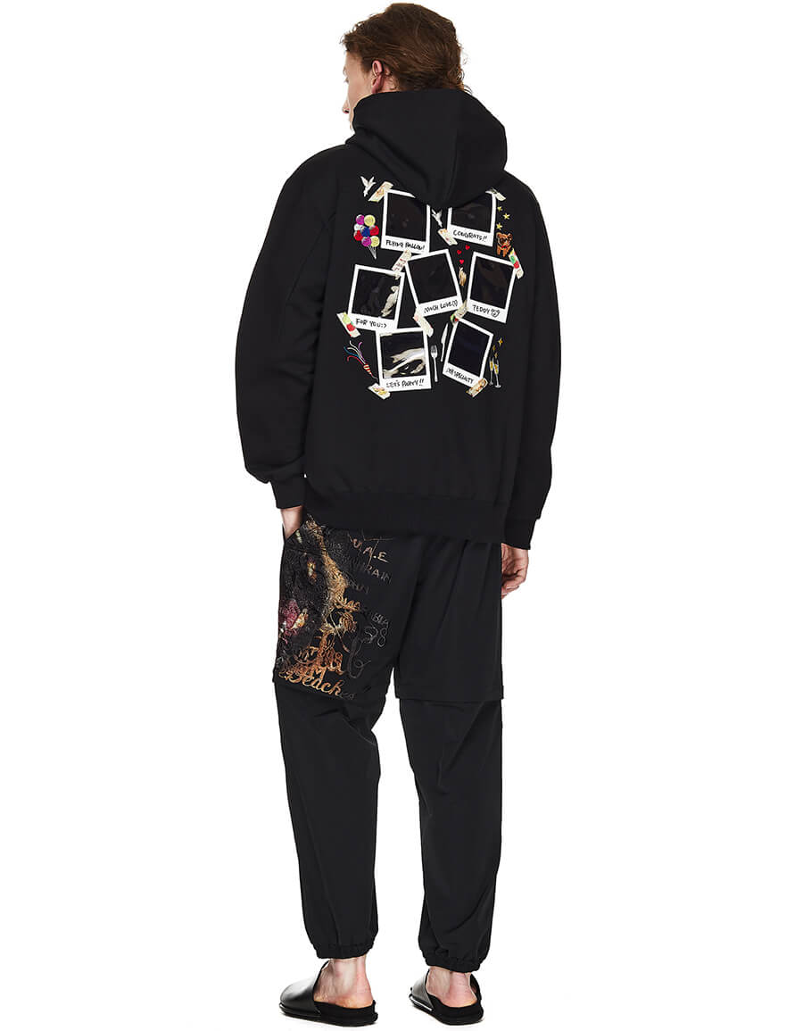 DOUBLET Polaroid Patched Hoodie