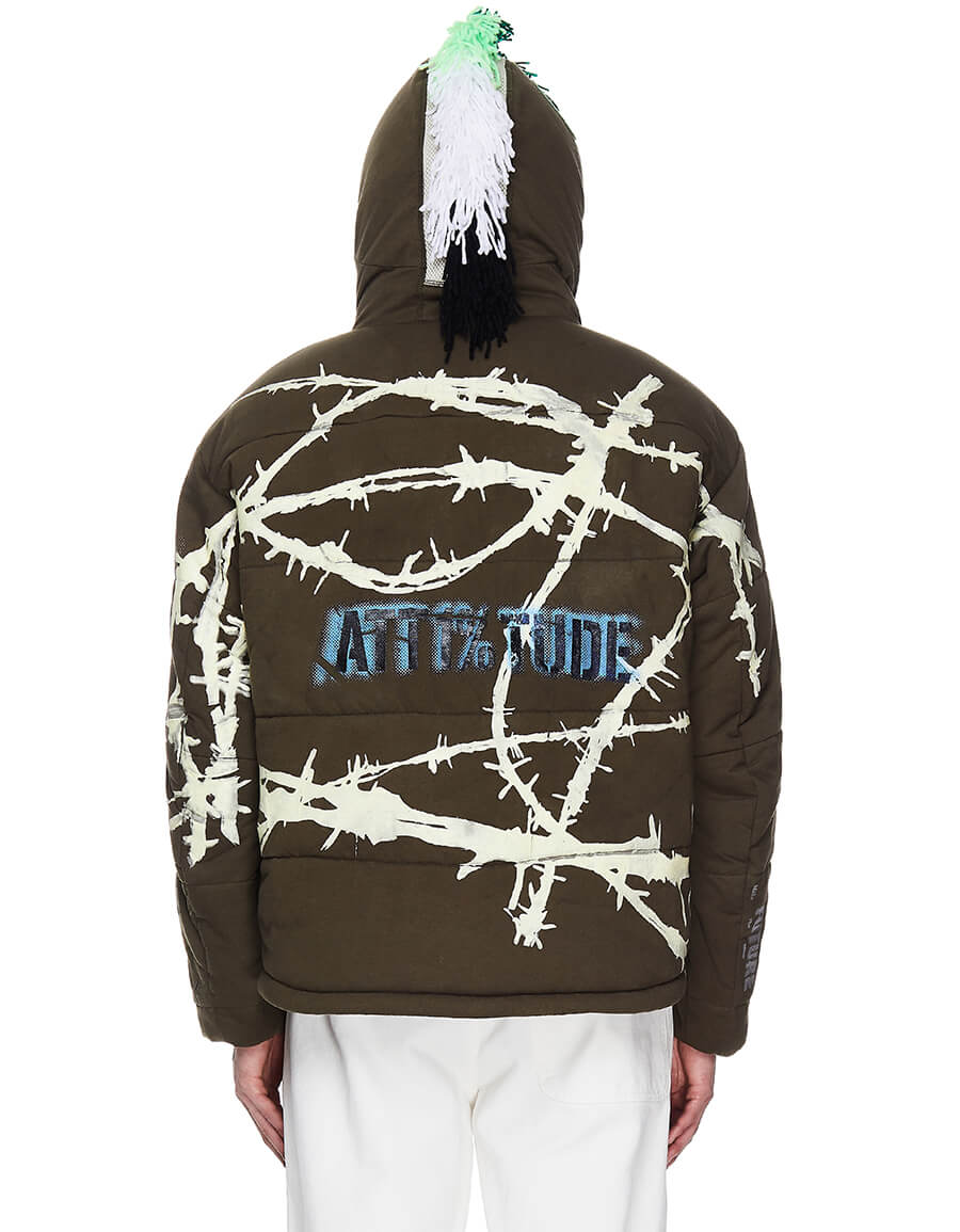 99% IS Green Attitude Printed Jacket